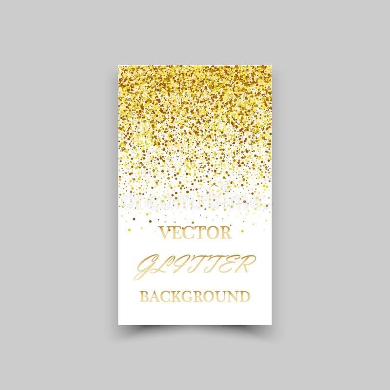 在白色背景的金闪闪发光 金子闪烁背景 皇族释放例证