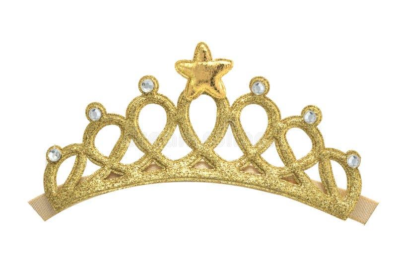 在白色背景的金黄冠模型 库存照片