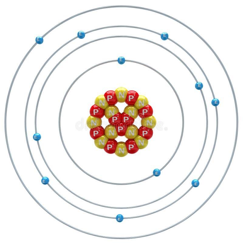 在白色背景的钠(同位素)原子 向量例证