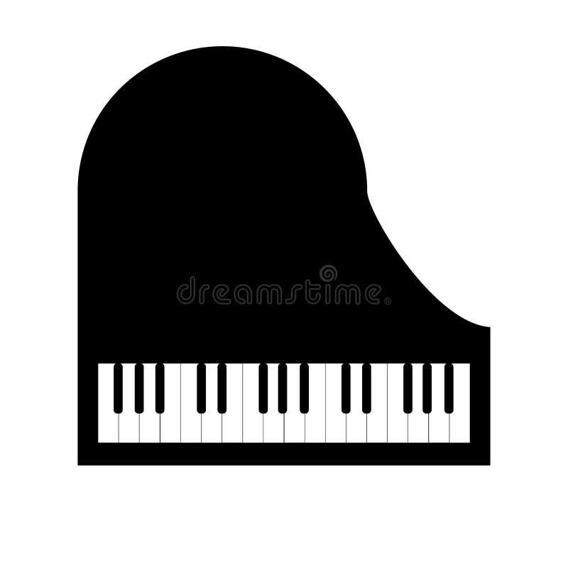 在白色背景的钢琴 库存例证