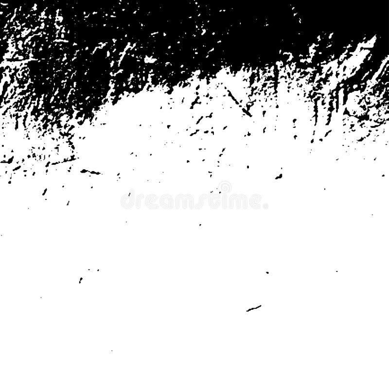 在白色背景的难看的东西黑纹理 商业的模板 库存例证