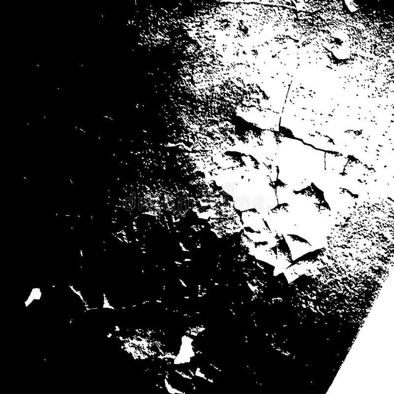 在白色背景的难看的东西黑纹理 皇族释放例证
