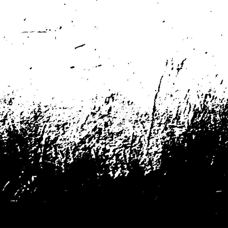 在白色背景的难看的东西黑纹理 向量例证