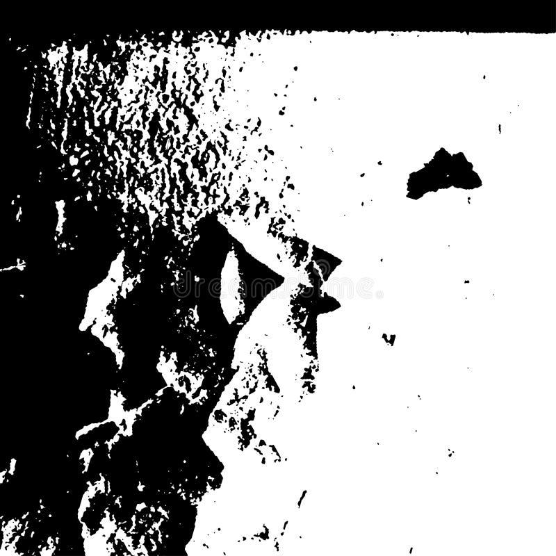 在白色背景的难看的东西黑纹理 库存例证