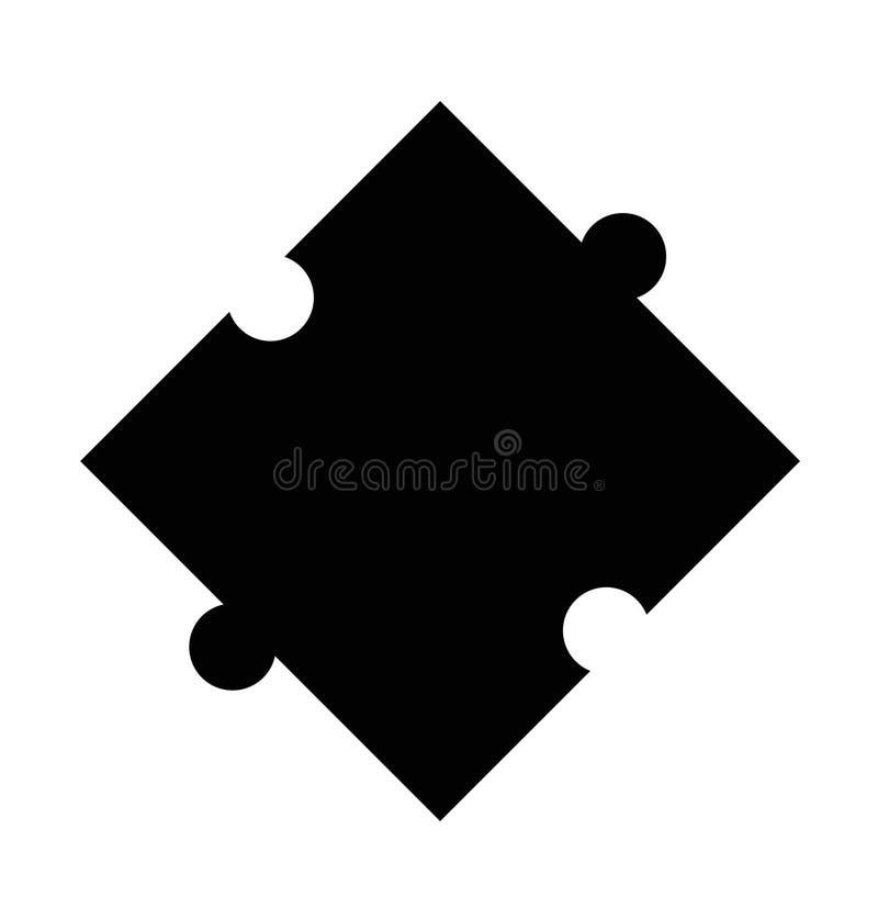 在白色背景的难题象 难题标志 平的样式 皇族释放例证