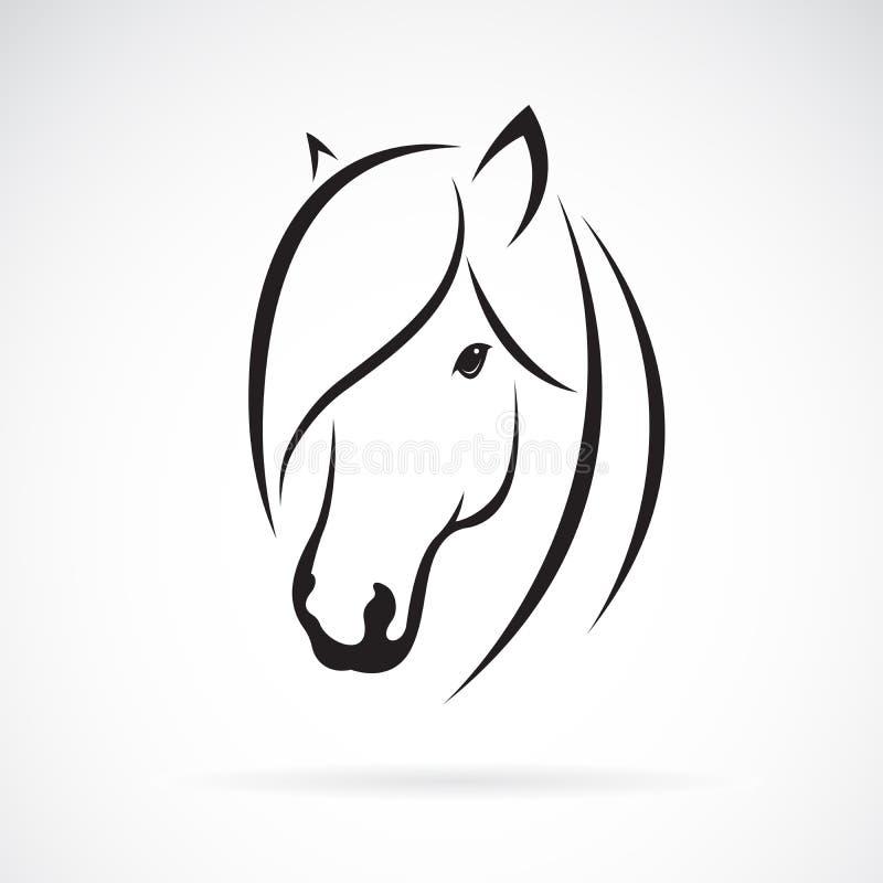 在白色背景的马头设计传染媒介  敌意 马s 皇族释放例证