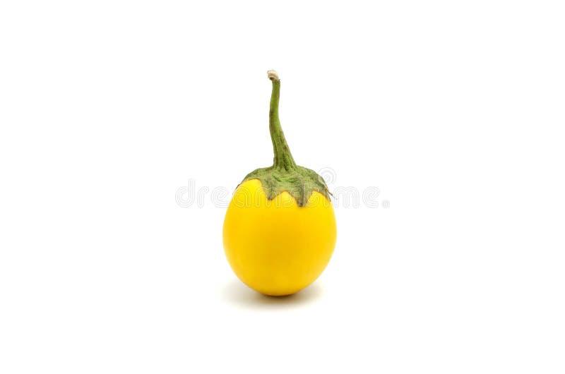 在白色背景的黄色茄子 免版税库存图片