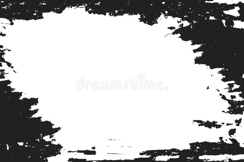 在白色背景的黑油漆 皇族释放例证