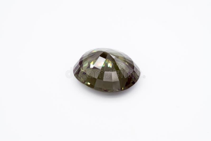 在白色背景的绿宝石,绿色绿宝石,绿色宝石,宝石, Gre 免版税库存图片