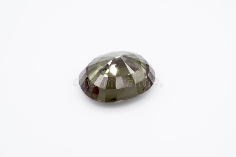 在白色背景的绿宝石,绿色绿宝石,绿色宝石,宝石, Gre 免版税库存照片