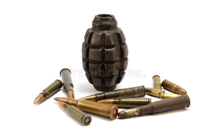 炸弹和子弹 库存照片
