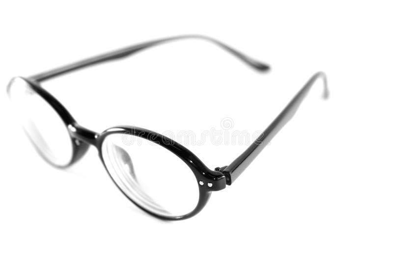在白色背景的黑玻璃 免版税库存照片