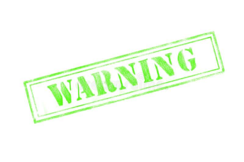在白色背景的`警告`不加考虑表赞同的人 皇族释放例证