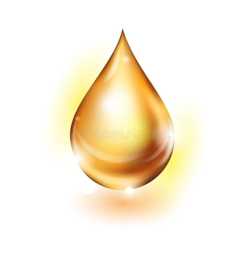 在白色背景的贵重的石油小滴 向量 向量例证