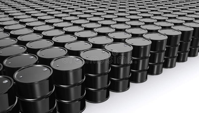 在白色背景的黑金属油桶 皇族释放例证
