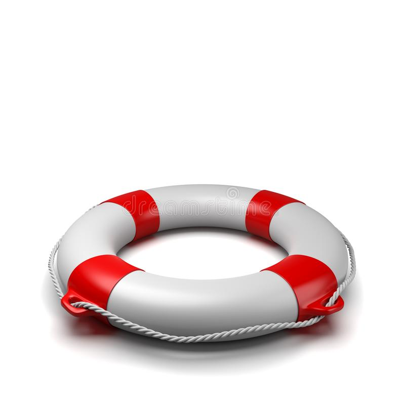 在白色背景的Lifebuoy 向量例证