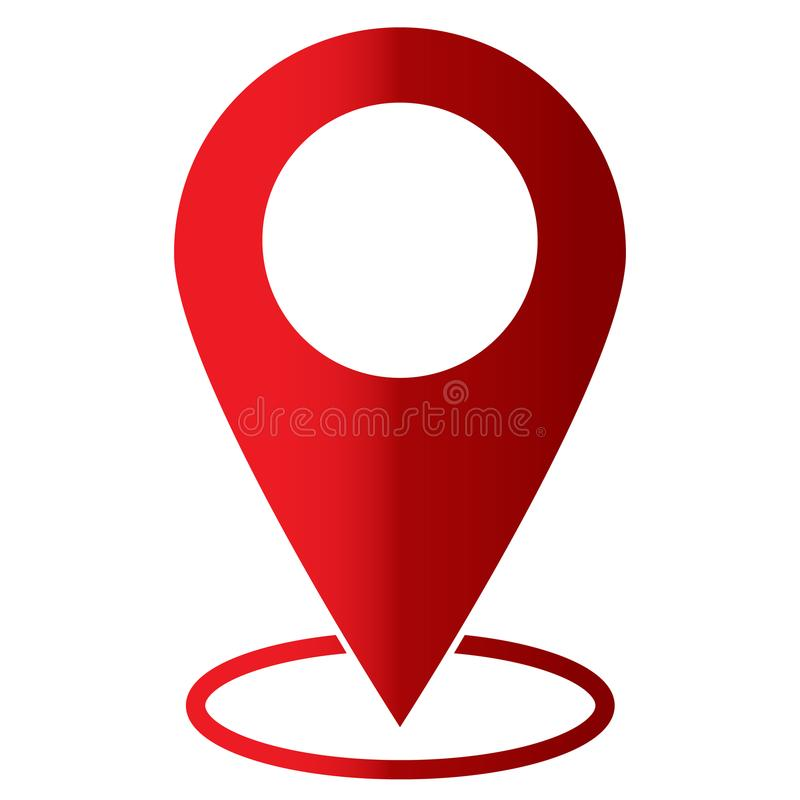 在白色背景的Pin象 平的样式 地图标志 向量例证