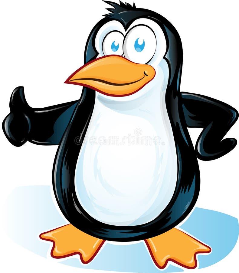 在白色背景的Pinguin动画片 库存例证
