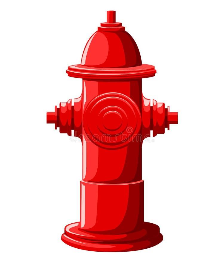 在白色背景网站页在平的样式的红火消防栓隔绝的和流动app设计 向量例证