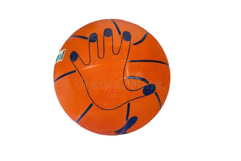 在白色背景被构造隔绝的篮球球 在白色背景的篮球 篮球的球 免版税库存图片