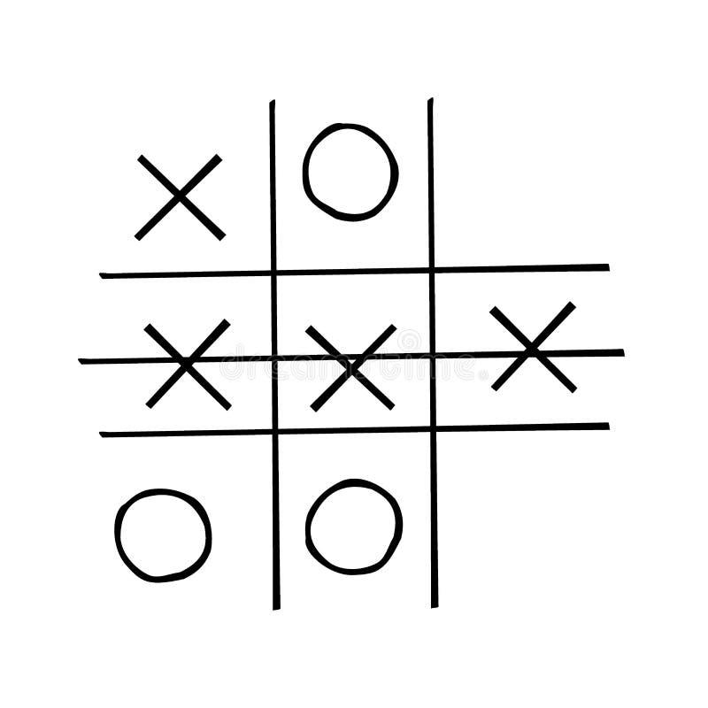 在白色背景隔绝的井字游戏竞争 向量例证