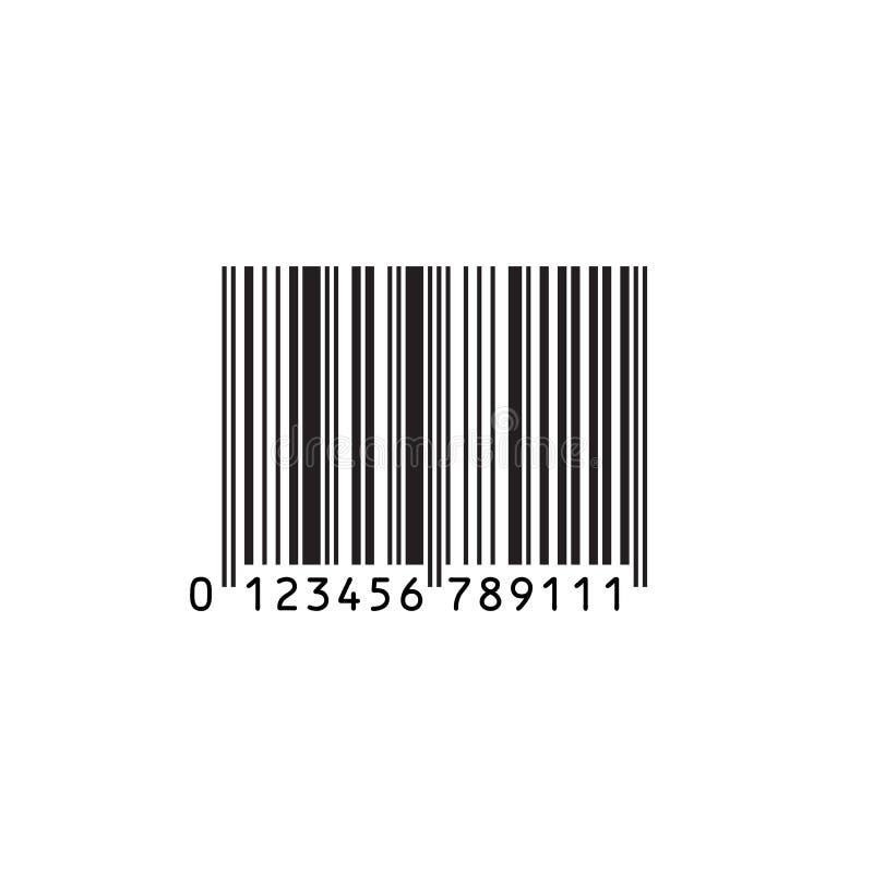 在白色背景隔绝的传染媒介现实条形码 皇族释放例证