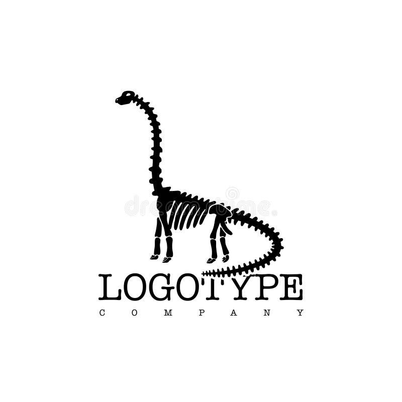 在白色背景隔绝的传染媒介略写法恐龙最基本的梁龙 皇族释放例证