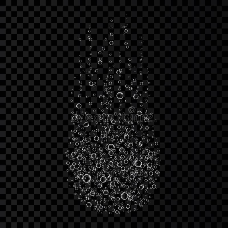 在白色背景隔绝的冒泡可溶解片剂泡影 皇族释放例证