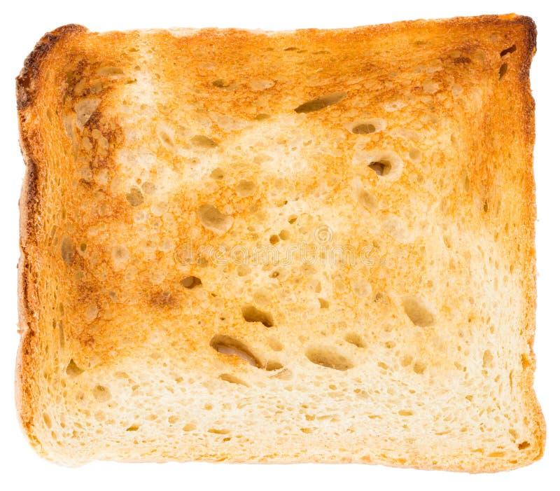 在白色背景隔绝的切的多士面包,顶视图 免版税库存照片