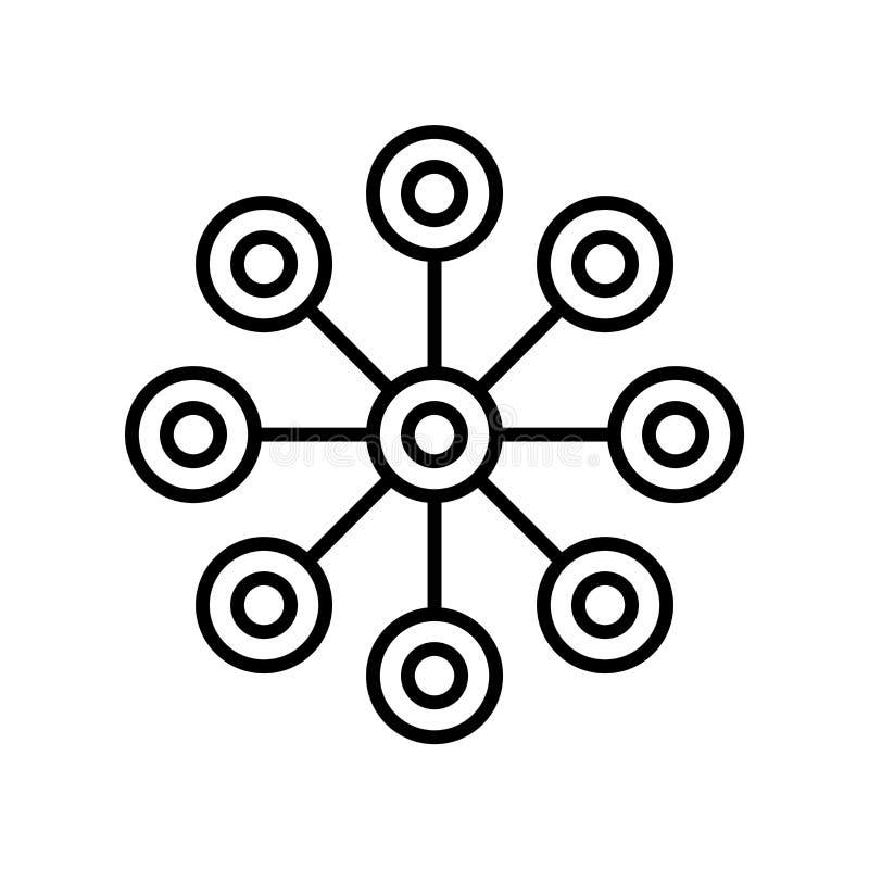 在白色背景隔绝的化工图象传染媒介,化工图标志,稀薄的线在概述样式的设计元素 向量例证