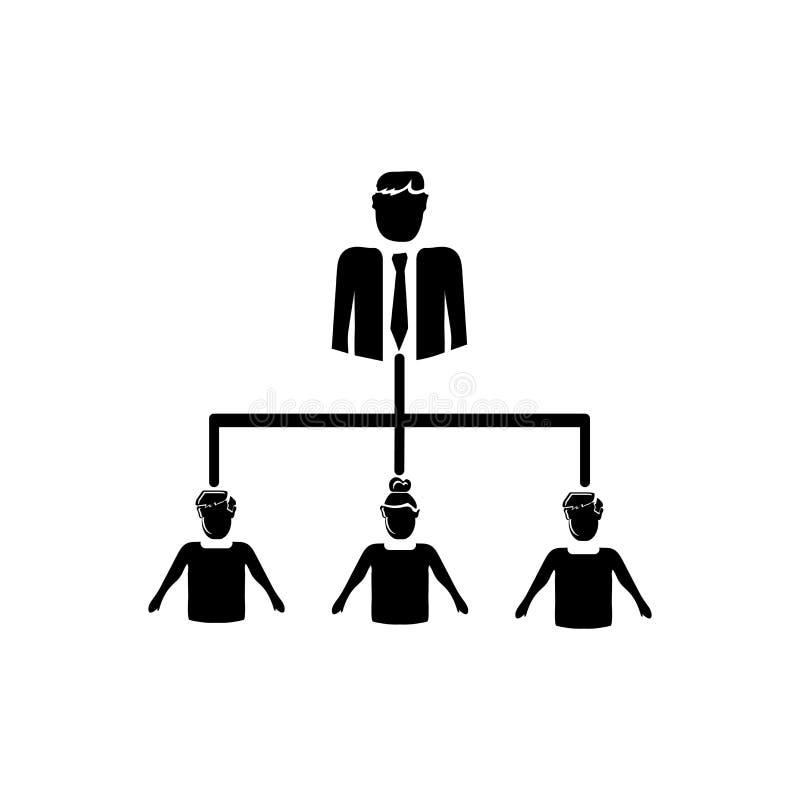 在白色背景隔绝的协调的人象传染媒介,协调的人民签字,企业例证 皇族释放例证