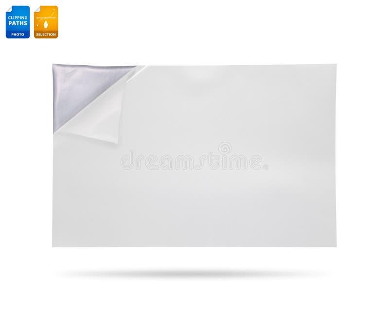 在白色背景隔绝的卷曲的纸角落 r r 皇族释放例证