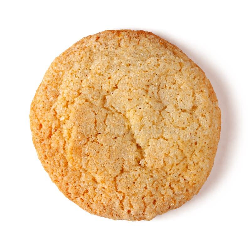 在白色背景隔绝的古板的柠檬糖屑曲奇饼 免版税库存照片
