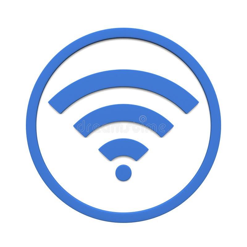 在白色背景隔绝的各种各样的wifi标志标志的图象 3d翻译 库存例证