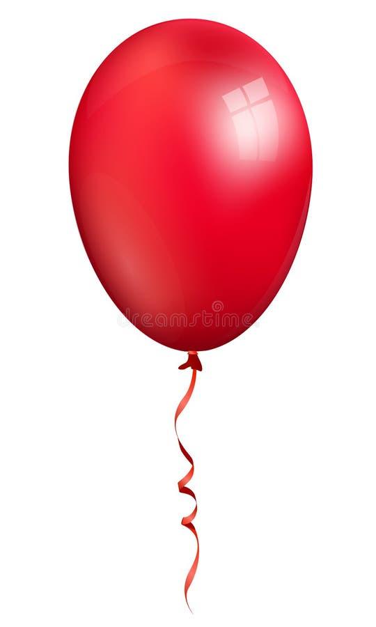 在白色背景隔绝的唯一现实红色3d轻快优雅 皇族释放例证