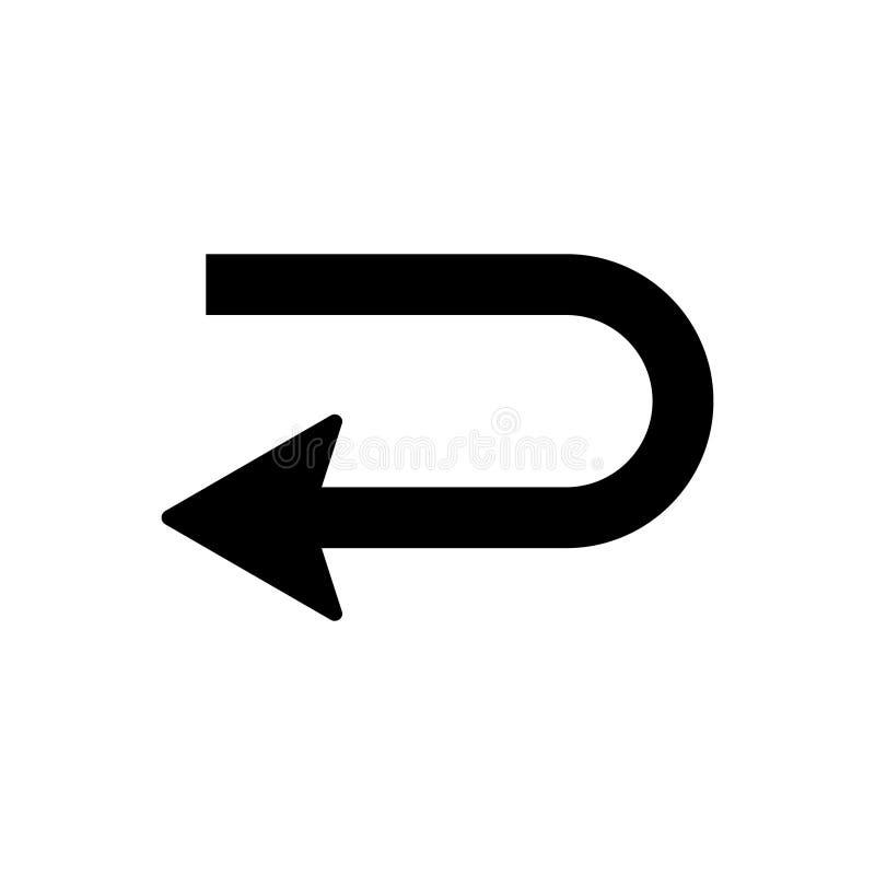 在白色背景隔绝的回归象传染媒介,回归标志商标概念在透明背景的,填装了黑标志 库存例证