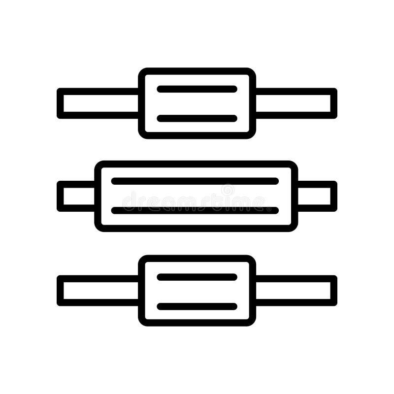 在白色背景隔绝的垂直的对准线象传染媒介,Ver 向量例证
