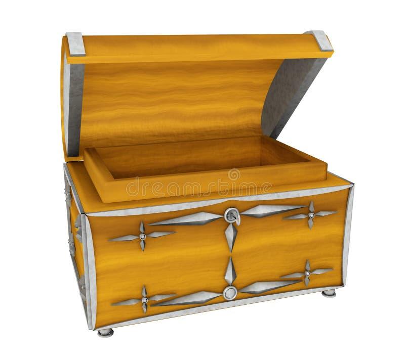 在白色背景隔绝的宝物箱 库存例证