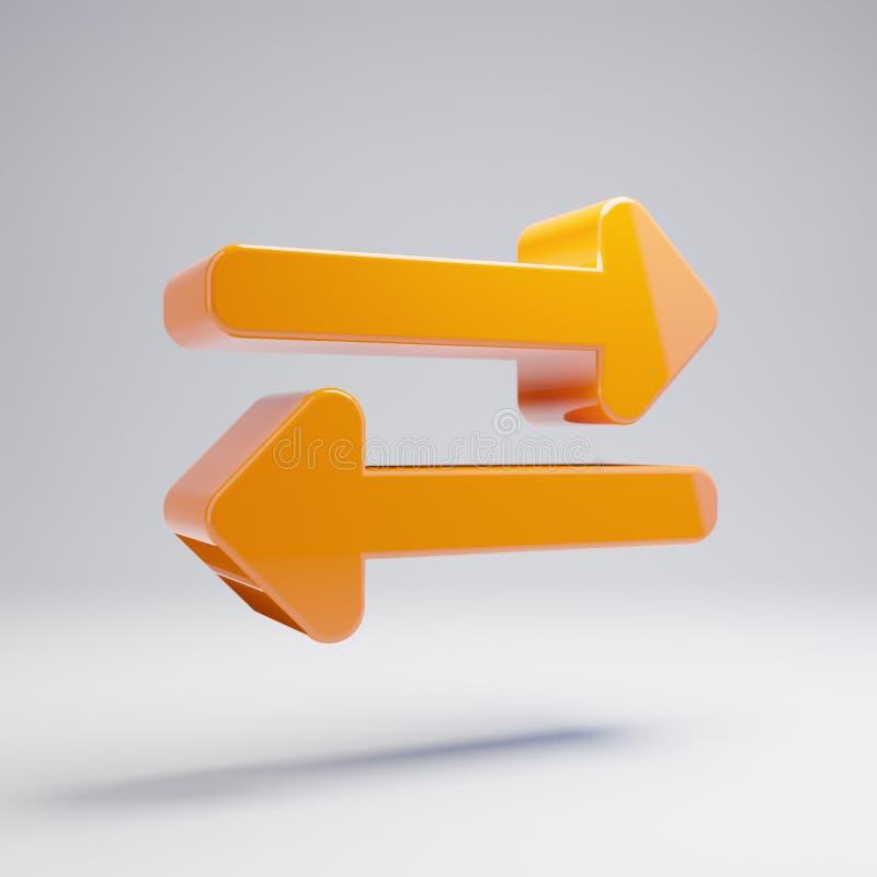 在白色背景隔绝的容量光滑的热的橙色交换象 向量例证