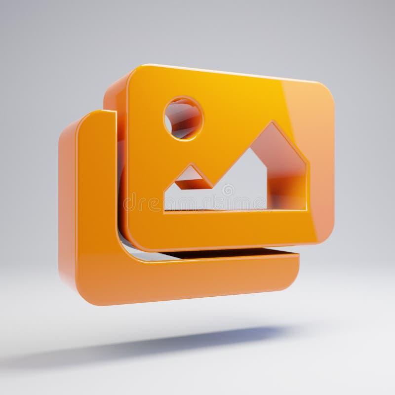 在白色背景隔绝的容量光滑的热的橙色图象象 向量例证