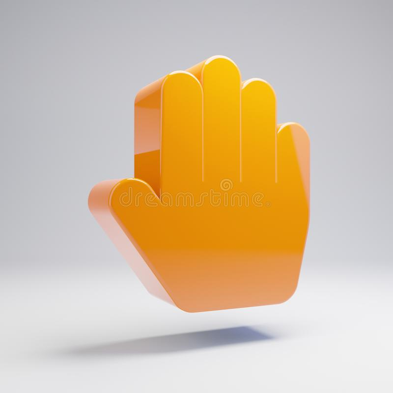 在白色背景隔绝的容量光滑的热的橙色手纸象 向量例证