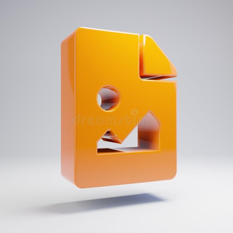 在白色背景隔绝的容量光滑的热的橙色文件图象象 皇族释放例证