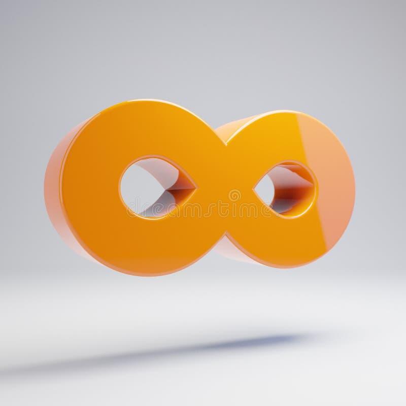 在白色背景隔绝的容量光滑的热的橙色无限象 皇族释放例证