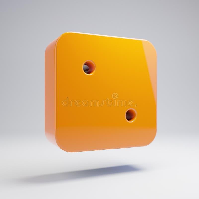在白色背景隔绝的容量光滑的热的橙色模子两象 向量例证