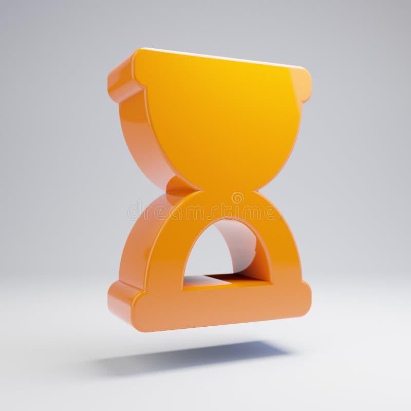 在白色背景隔绝的容量光滑的热的橙色滴漏中止象 向量例证