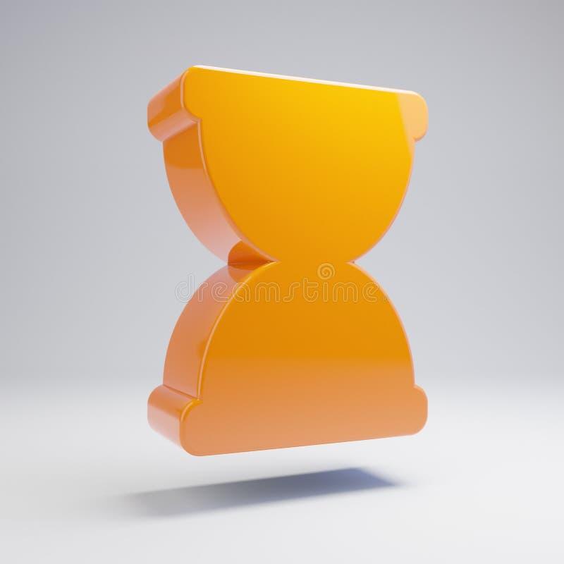 在白色背景隔绝的容量光滑的热的橙色滴漏象 向量例证