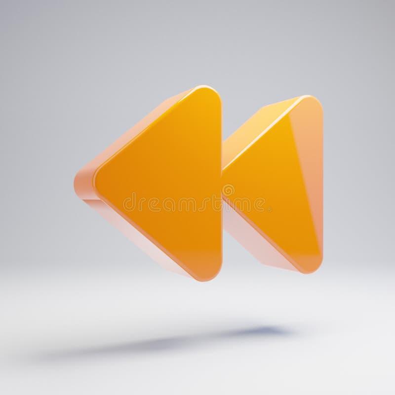 在白色背景隔绝的容量光滑的热的橙色落后象 皇族释放例证