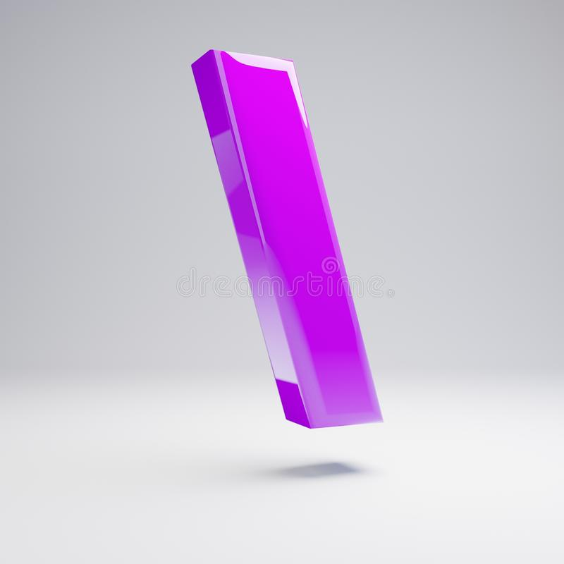 在白色背景隔绝的容量光滑的紫罗兰色后面深砍标志 向量例证