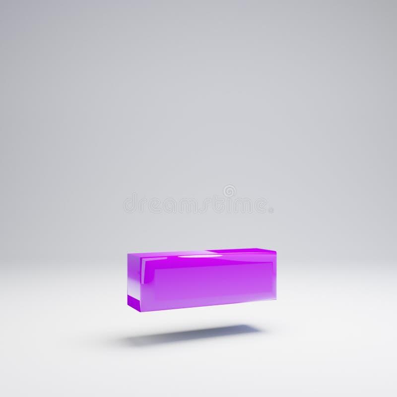 在白色背景隔绝的容量光滑的紫罗兰色破折号标志 向量例证