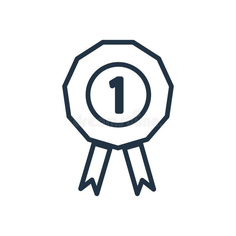 在白色背景隔绝的得奖的象传染媒介,得奖的标志 向量例证